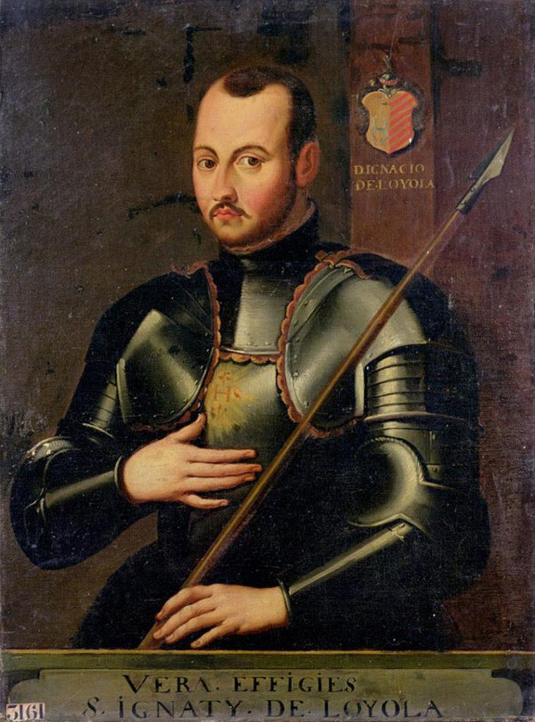 San Ignacio en armadura.