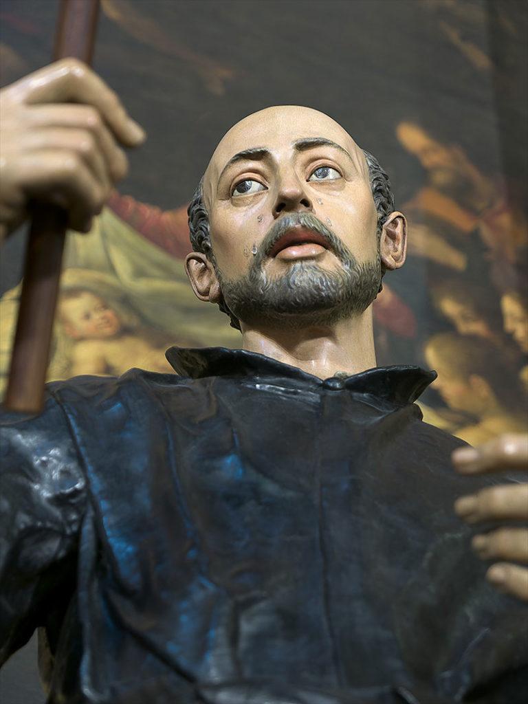 Imagen de San Ignacio de Loyola, hecho por el escultor español Juan Martínez Montañés en el año 1610.